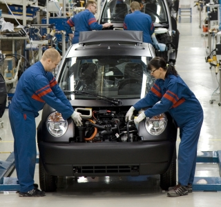 Fábrica de producción del coche eléctrico Think City