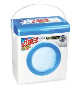 Paquete de detergente reutilizable de la marca coreana Spark.