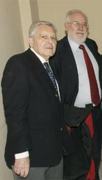 El ex fiscal Anticorrupción Carlos Jiménez Villarejo y el rector de la Complutense, Carlos Berzosa