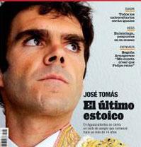 Portada de la revista Época, con fotografía de José Tomas