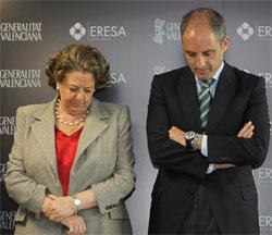 Rita Barberá, alcaldesa de Valencia, y Francisco Camps, presidente de la Comunidad Valenciana