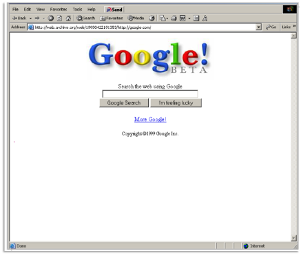Google search retro
