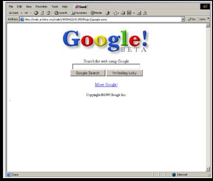 Google search retro