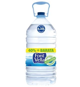 Nueva garrafa de 6,25 litros con un 25% de PET reciclado.