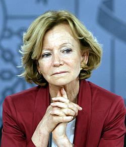 La vicepresidenta económica, Elena Salgado