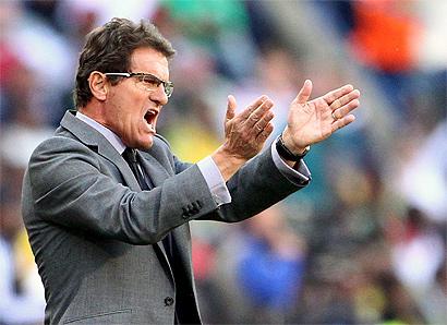 El entrenador de Inglaterra, Fabio Capello