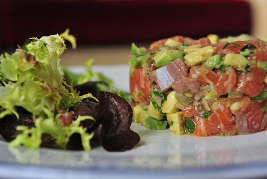 Tartar salmon aguacate