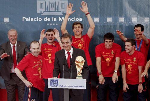El presidente del Gobierno con la selección española