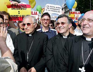 Antonio María Rouco Varela, en una manifestación