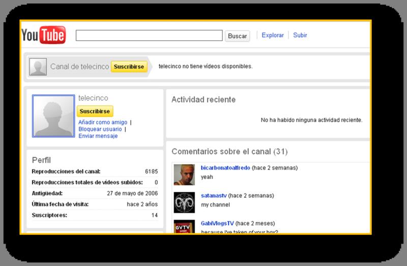 Canal telecinco en Youtube