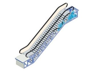 Gráfico de escaleras mecánicas de OTIS.