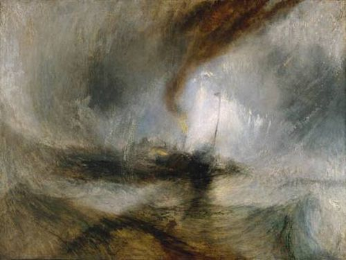 Turner Snow Storm-Steam-Boat off a Habrbour's Mouth 1842