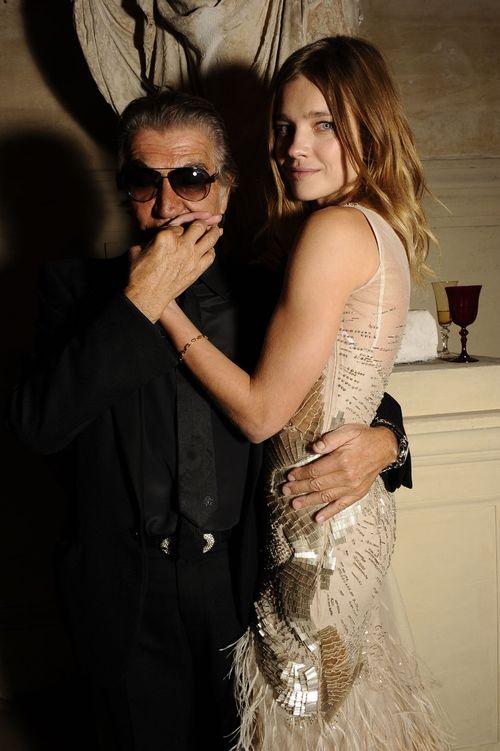 Roberto Cavalli e Natalia Vodianova in Roberto Cavalli
