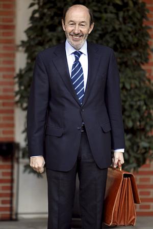 Rubalcaba en su toma de posesión (Foto: EFE)