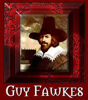 Fawkes retrato con marco y nombre