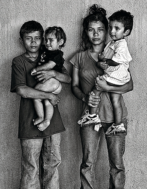 Emigrantes hondureños (Foto: Isabel Muñoz)