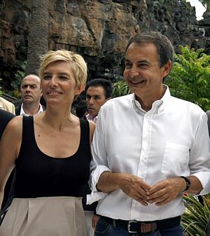 Sonsoles Espinosa y su marido, José Luis Rodríguez Zapatero
