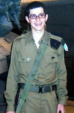 El soldado israelí Gilad Shalit, capturado por Hamas