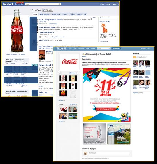 Paginas Facebook y Tuenti