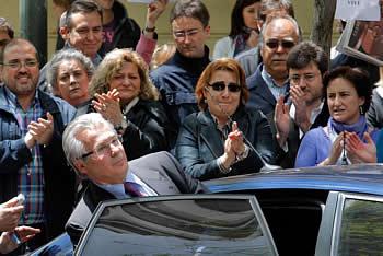 El juez Baltasar Garzón, en su despedida de la Audiencia Nacional