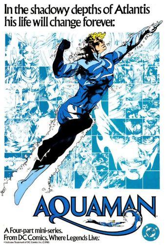 Portada de la miniserie de Aquaman de 1986, con su traje alternativo