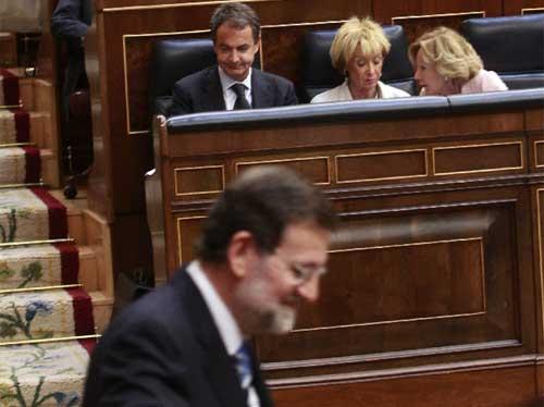 Rajoy y Zapatero en el Congreso
