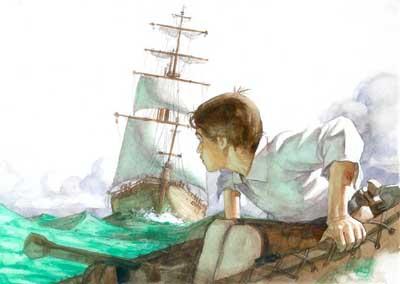 Stevensonniño en barca