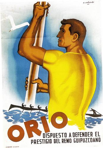 Antonio Valverde. Orio dispuesto a defender el prestigio del remo guipuzcoano. Después de que Pedreña ganase la Concha en 1946, Orio se tomó la revancha venciendo el campeonato de España celebrado en Santander.