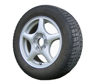 Un neumático de automóvil (Wikimedia)