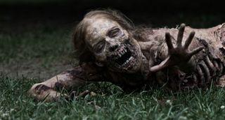 Bicycle girl-walking-dead_zombie