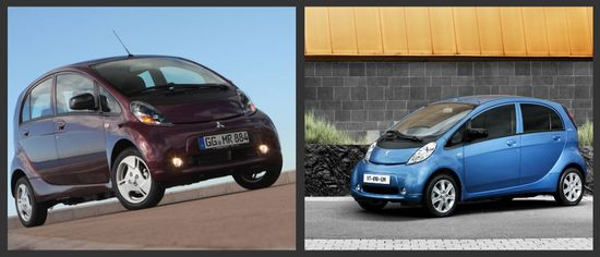 Mitsubishi i-MIEV y Peugeot iOn