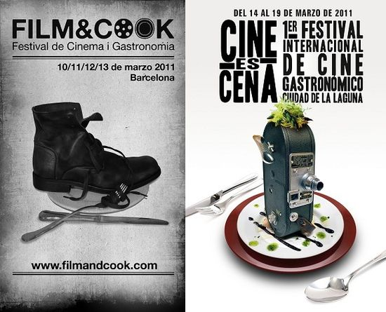 Carteles festivales cine gastronomia