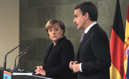 Angela Merkel y José Luis Rodríguez Zapatero / Foto: Uly Martín