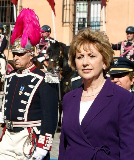 La presidenta de Irlanda, Mary McAleese, esta tarde en la Casa de la Villa de Madrid . EFE/Manuel H. de León