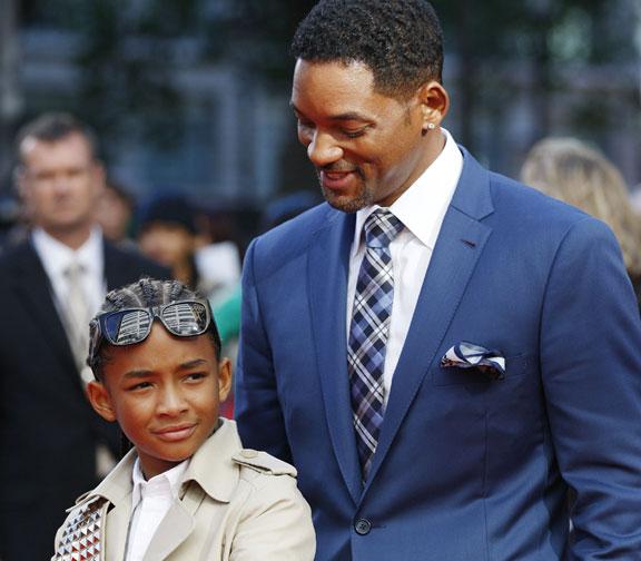 Jayden y Will Smith (Foto:AP)