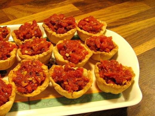 Tartaletas tomate confitado