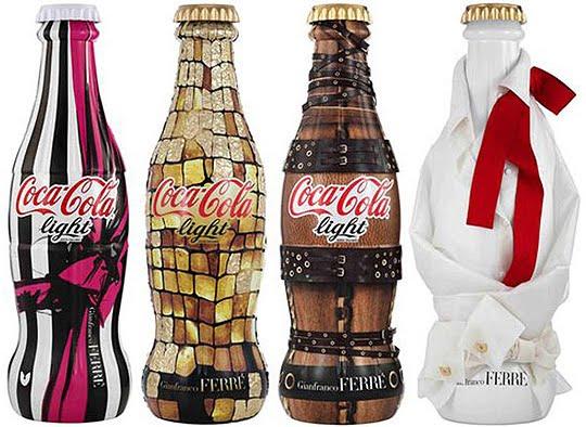 Coca-cola-light-gianfranco-ferre-bottles