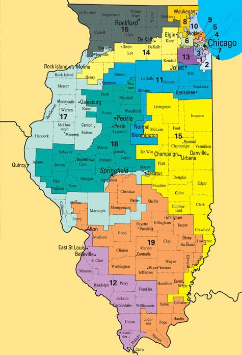 Illinois Los Hispanos Ayudan A Dibujar El Nuevo Mapa Electoral - Mapa de illinois
