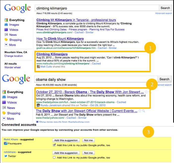 Cambios en resultados de Google