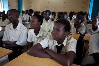Estudiantes en Congo