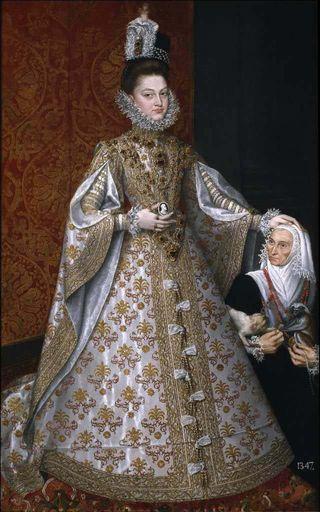 La infanta Isabel Clara Eugenia y Magdalena Ruiz. Alonso Sánchez Coello.
