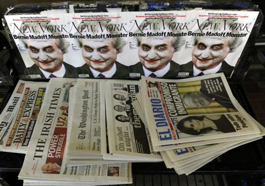 Portada de New York Magazine con una entrevista a Madoff