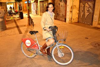 Diana González durante el congreso de bicis Velo City. Foto: Juan Manuel Ureña