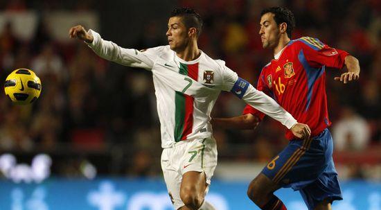 Busquets and Ronaldo