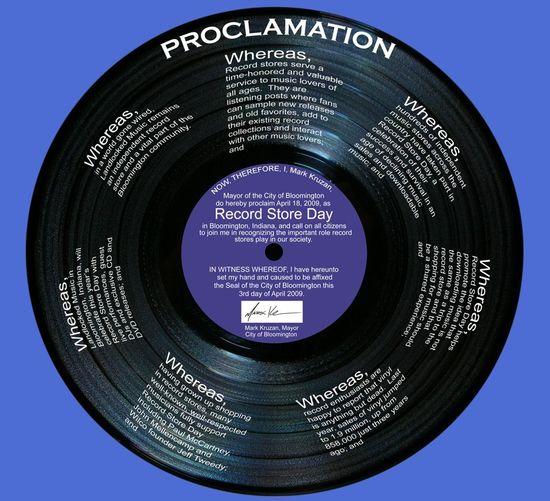 RecordStoreDayProclamation