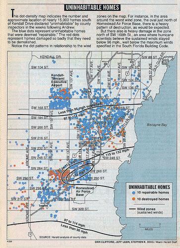 Mapa de viviendas afectadas en Florida