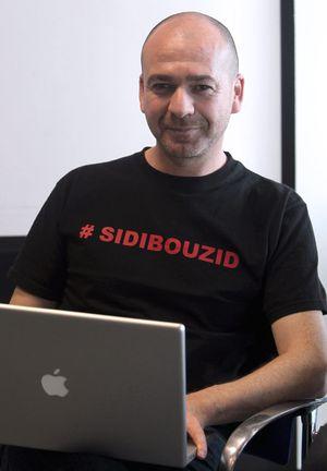 El bloguero y activista tunecino Sami Ben Gharbia (Foto: Uly Martín)