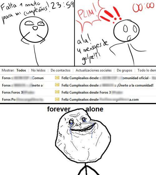 Forever Alone y sus amigos los memes de internet