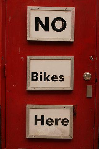 No bikes here. Vita Lo Russo