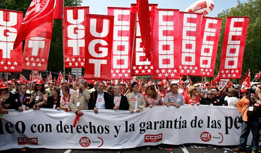 Manifestación del Primero de Mayo en Madrid.  (Foto: Luis Sevillano)